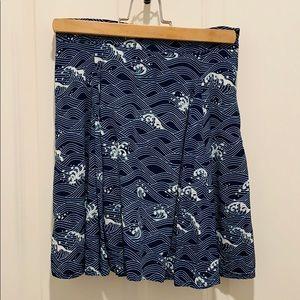 Blue Waves A-line Skirt